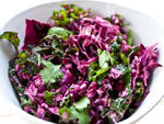 Kale and cabbage cole slaw, cilantrol lime dressing at Butcher's Daugther