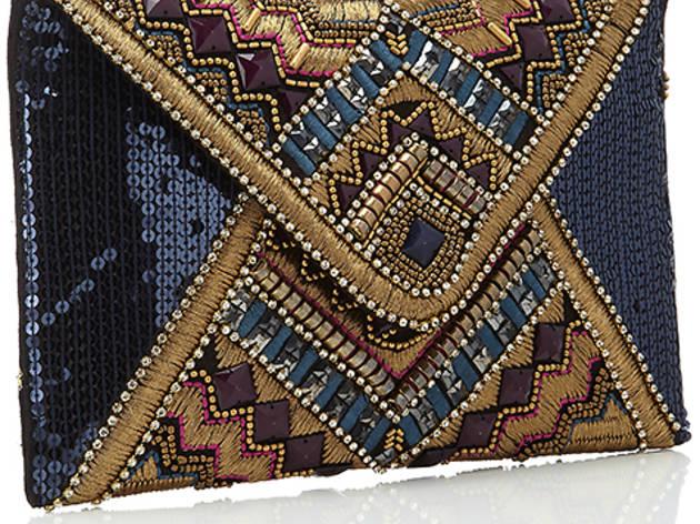 12/19 Accessorize Aztec Gem Envelope Clutch, $78, At Accessorize