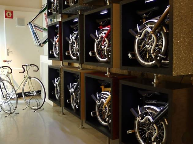 Un vélo pliable