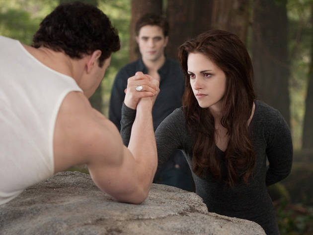 Kristen Stewart, right, in The Twilight Saga: Breaking Dawn Part 2