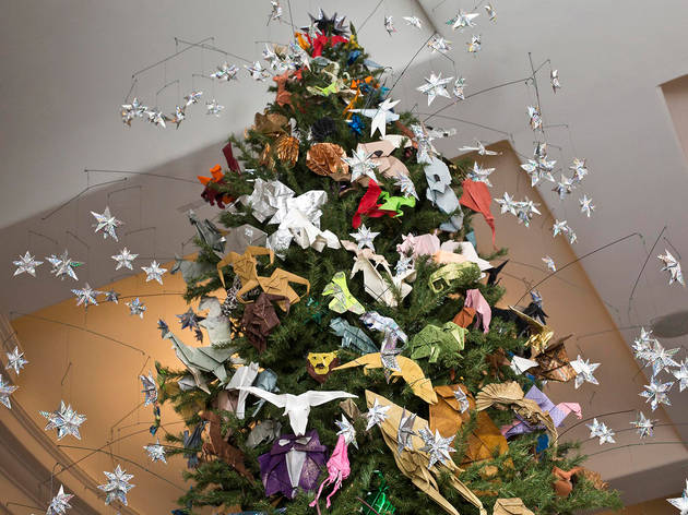 Holiday Origami Tree at the American Museum of Natural History
