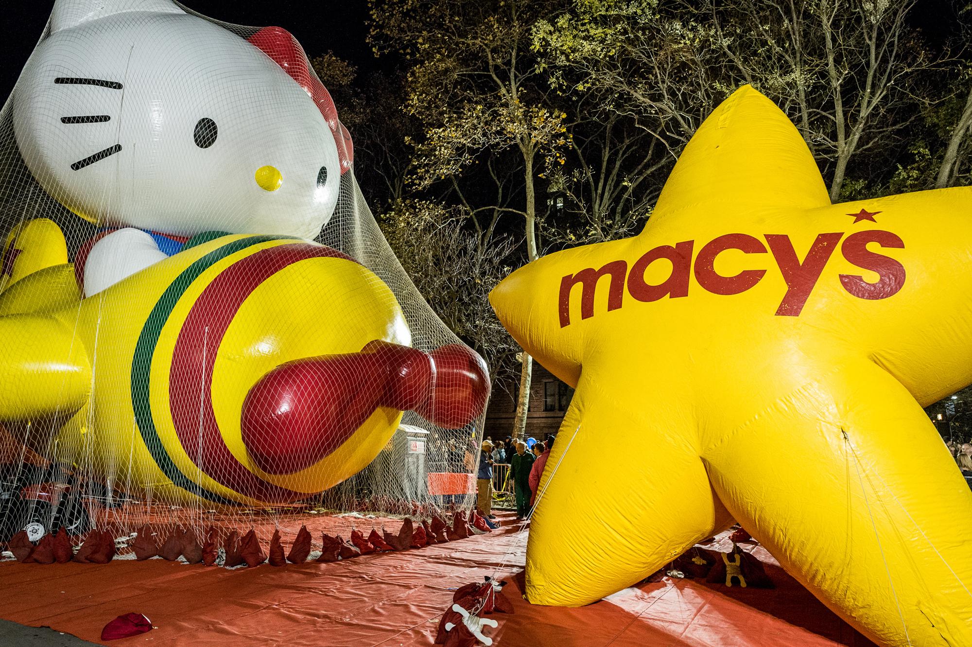 Macy's Parade Balloon Inflation, November 2012