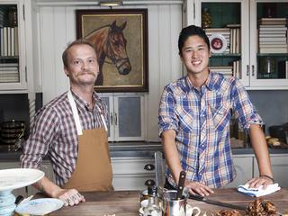 Chefs Brian Dunsmoor and Kris Tominaga at The Hart and the Hunter