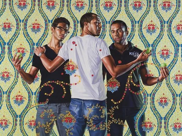 ('The Three Graces, 1881-1956', 2012 / Courtesy Galerie Daniel Templon, Paris / © Kehinde Wiley / Photo : B.Huet/Tutti)