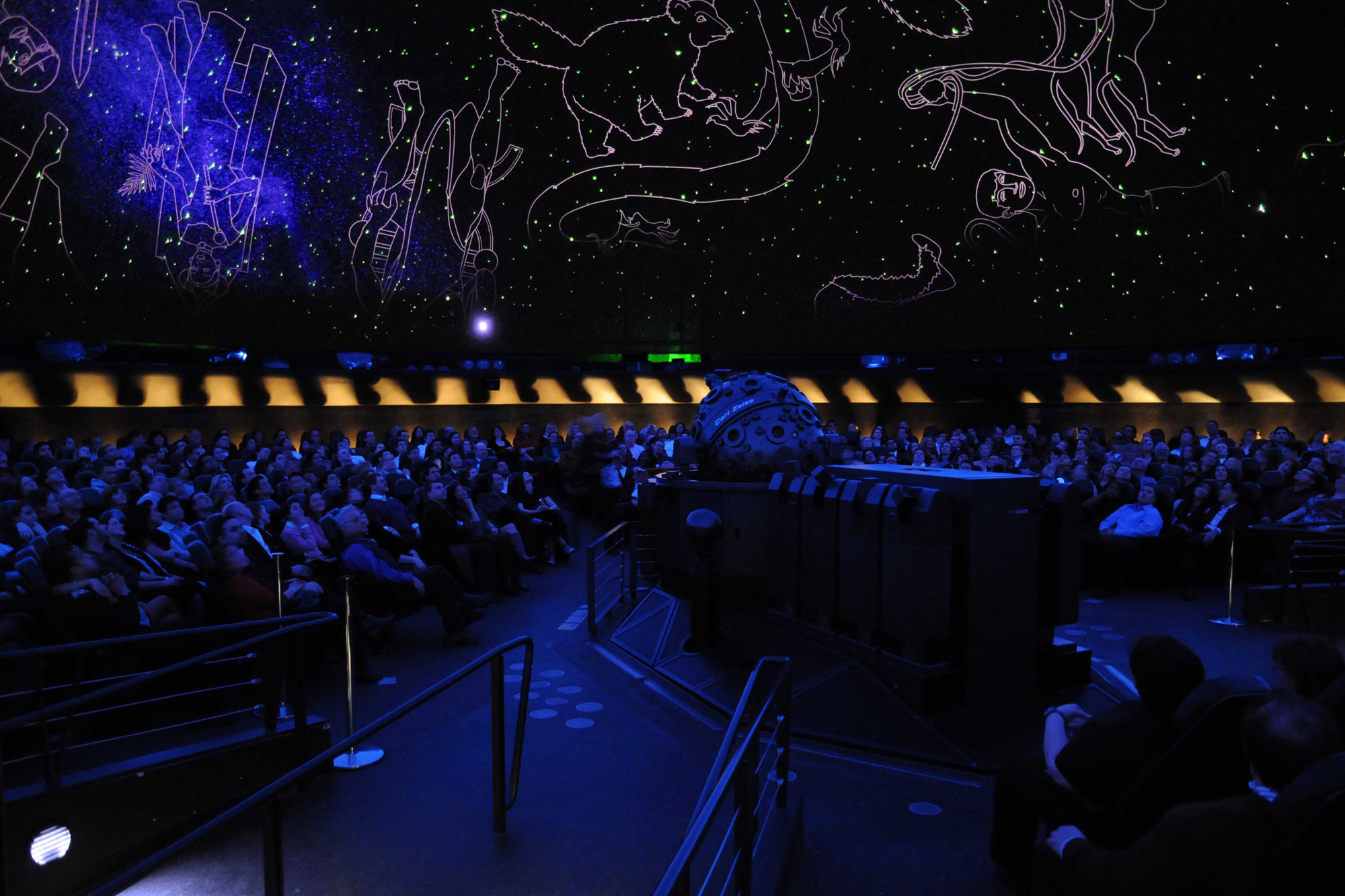 Canoodle at the planetarium's Romance Under the Stars