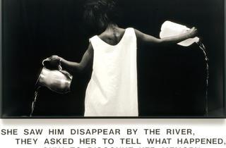 ('Waterbearer', 1986 / Courtesy de l'artiste, Salon 94, New York, et Galerie Nathalie Obadia, Paris-Bruxelles / © Lorna Simpson)