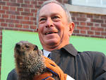 Staten Island Chuck and Mayor Bloomberg