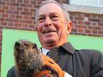 Staten Island Chuck and Mayor Bloomberg
