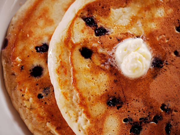 Ricotta blueberry pancakes at BLD