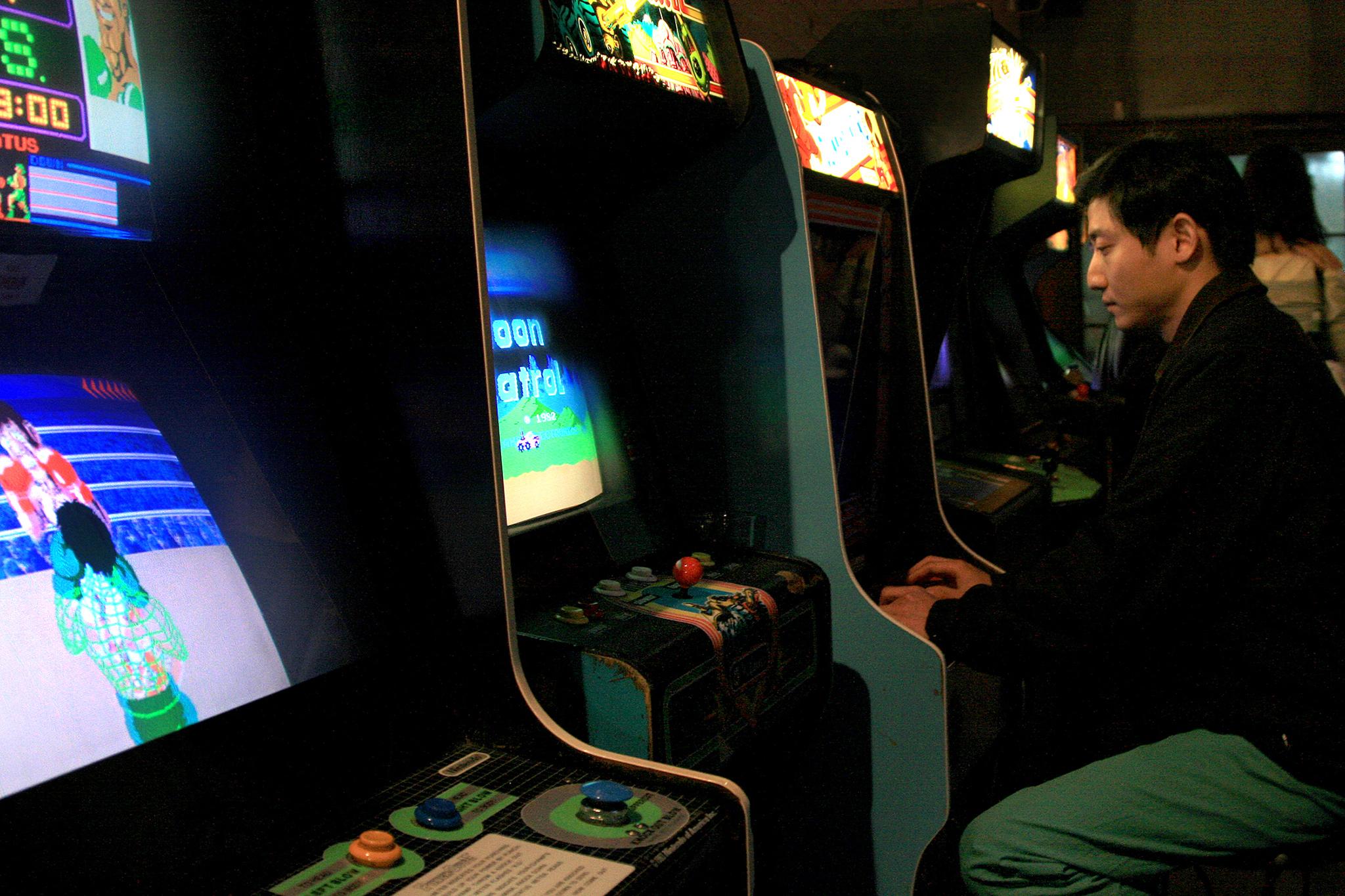 Play video games at Barcade