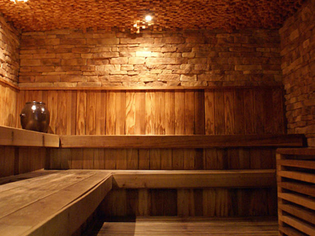 Steam, soak and scrub at the sauna