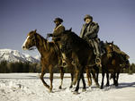 Jamie Foxx, left, and Christoph Waltz in Django Unchained