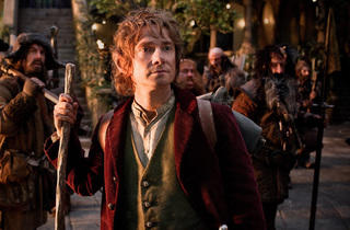 Martin Freeman, second from left, in The Hobbit: An Unexpected Journey