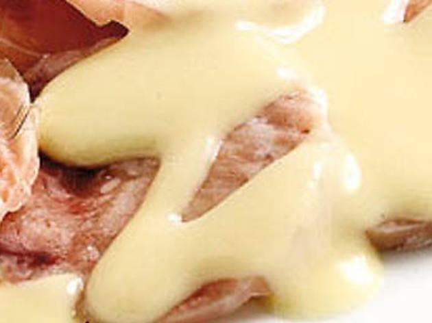 Carpaccio de peu de porc amb vinagreta de mongetes