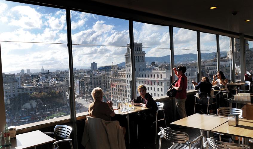 Bares de barcelona con vistas su panor mica justifica la - El corte ingles plaza cataluna barcelona ...