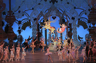 Fiona Brennan and Jonathan Alexander as the Little Prince and Princess (in Sleigh) The Nutcracker New York City Ballet
