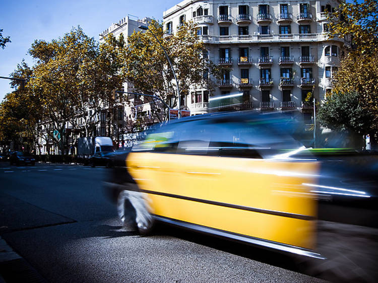 Barcelona by taxi