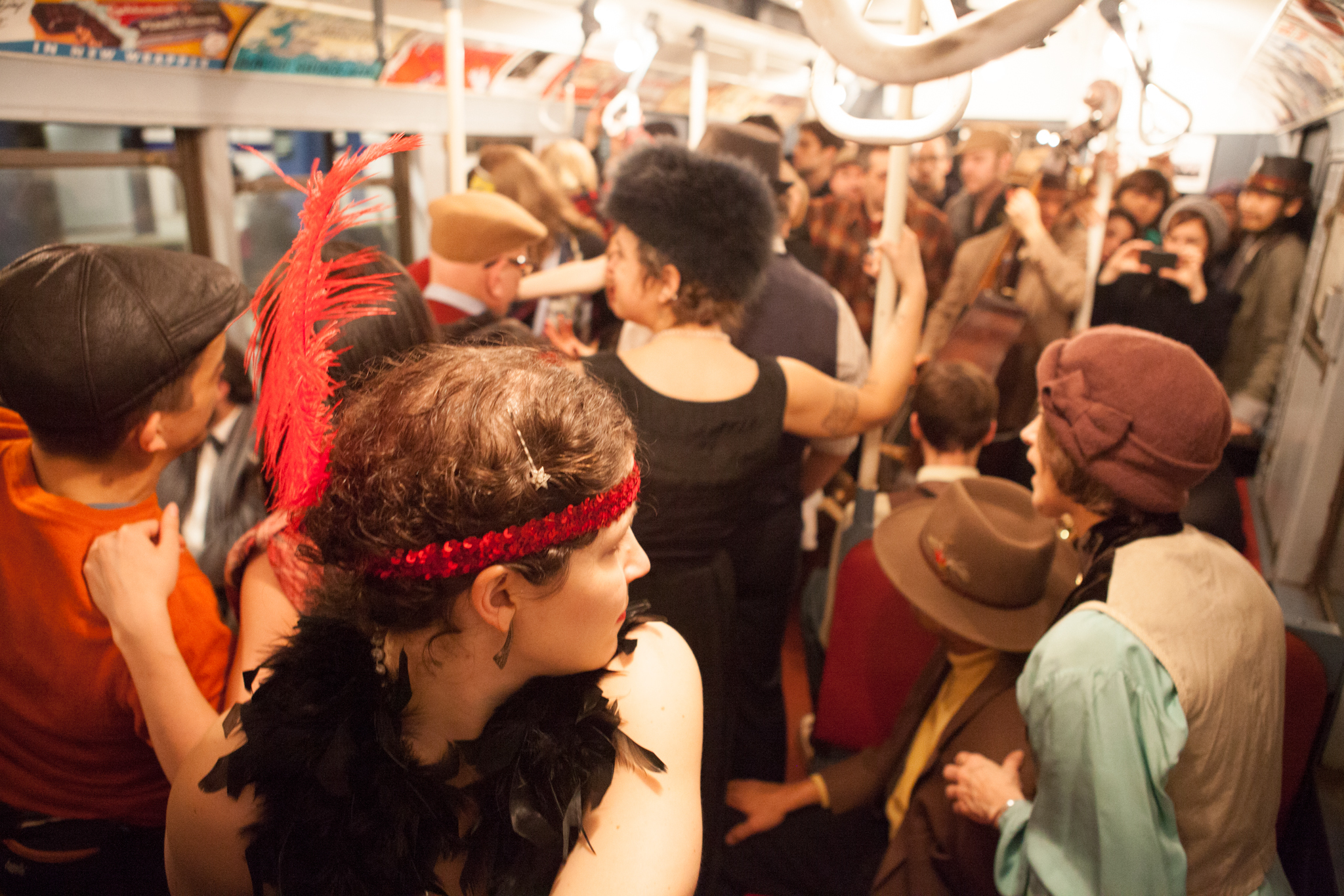 Vintage Peacock Party on the Vintage NYC Subway Trains 2012