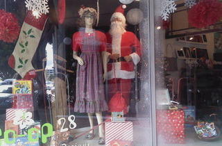 Santa's Workshop Holiday Window