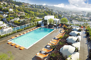 Rooftop lounge at Andaz West Hollywood