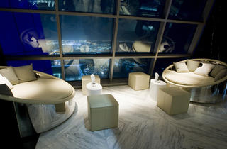Abu Dhabi, UAE  (A jelly Martini at Ray's Bar)