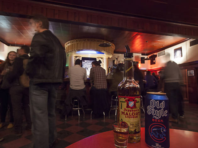 Chicago, USA (A shot of Jepson's Malort (and an Old Style) at the Rainbo Club)