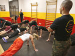 Boot camp class at Warrior Fitness