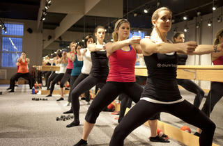 Barre class at Pure Barre