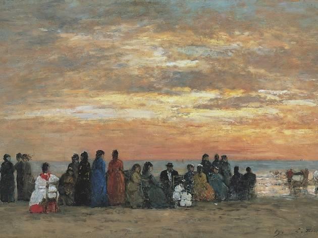 ('Scène de plage, Trouville', 1869 / © Colección Carmen Thyssen-Bornemisza en depósito en el Museo Thyssen-Bornemisza )