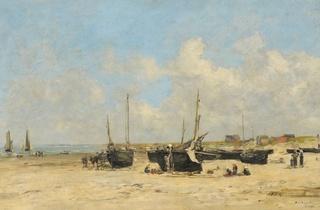 ('La Plage de Berck à marée basse', 1877 / © Photo : C. Devleeschauwer)