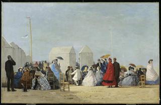 ('La Plage à Trouville à l'heure du bain', 1864 / © 2012, AGO)