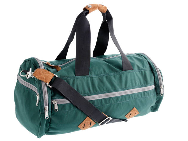 2 7 Channel the golden age of pumping iron with this  rsquo 70s-inspired  coated-nylon duffel. Ample exterior pockets allow you to quarantine  postworkout ... 4928a9b354807