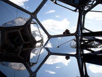 Installation view of Tomás Saraceno, Cloud City at the Metropolitan Museum of Art
