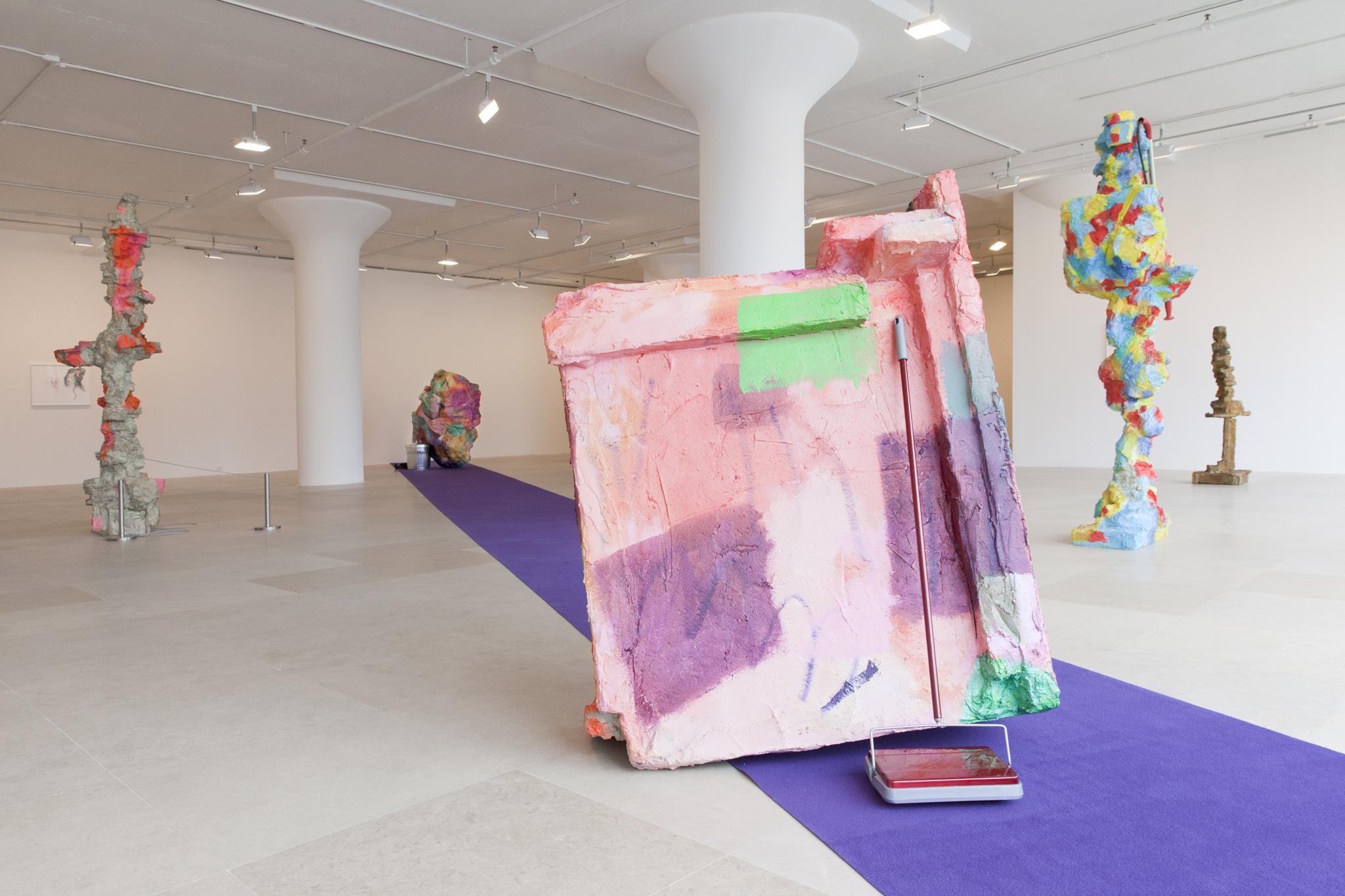 "Rachel Harrison,Installation view,""The Help,"" Greene Naftali, 2012"