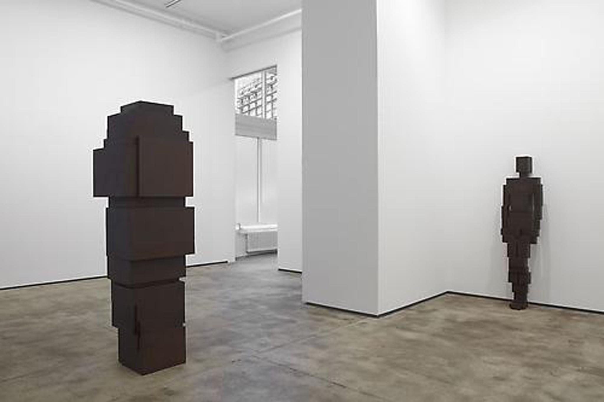 "Installation view of Antony Gormley, ""Bodyspace"" at Sean Kelly Gallery"