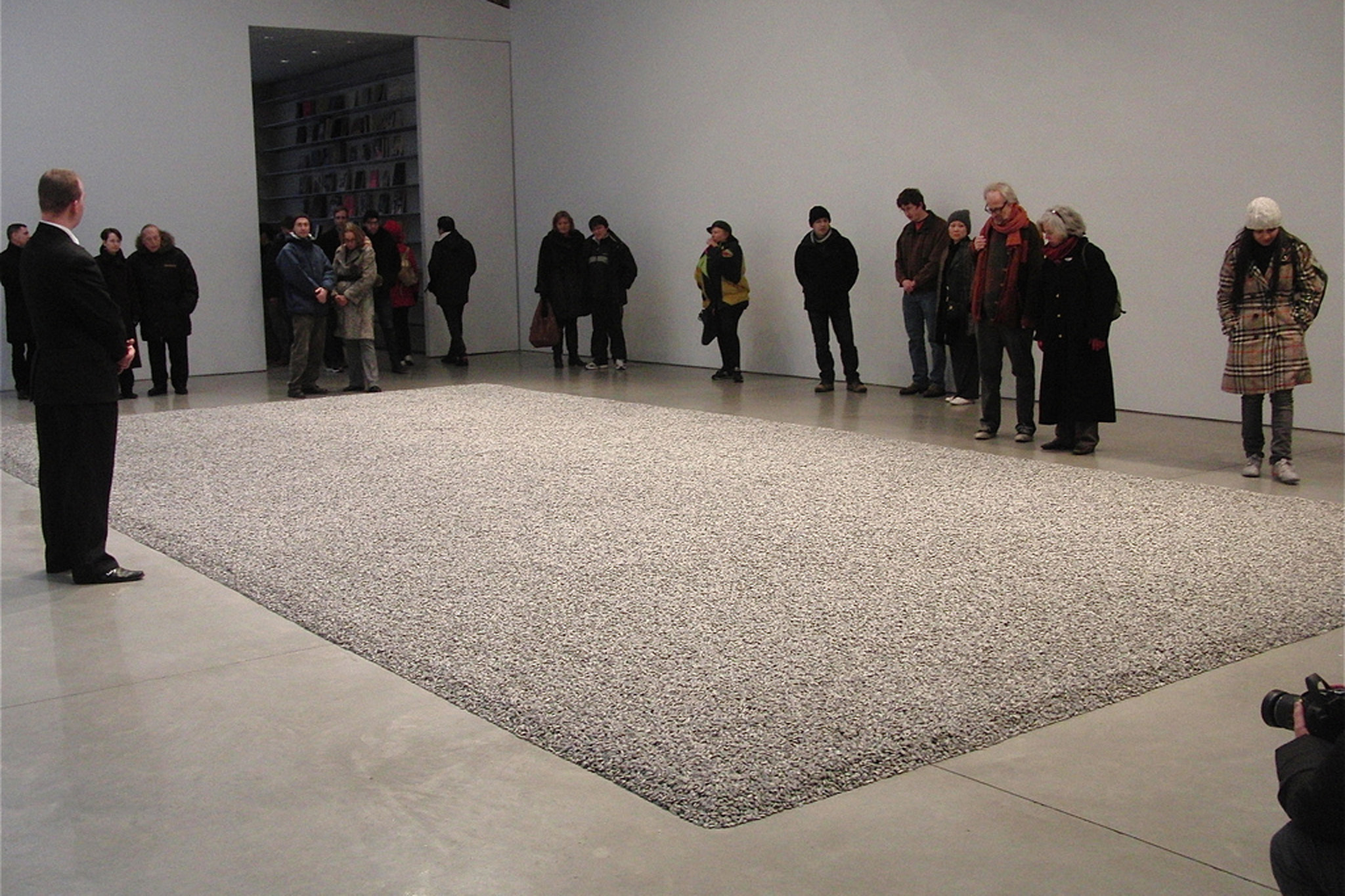 Installation view of Ai Wei Wei, Sunflower Seeds at Mary Boone Gallery
