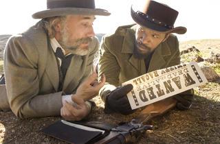 Christoph Waltz and Jamie Foxx in Django Unchained