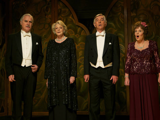 Left to right: Billy Connolly, Maggie Smith, Tom Courtenay and Pauline Collins in Quartet