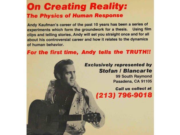 (Photograph: Courtesy the Estate of Andy Kaufman)