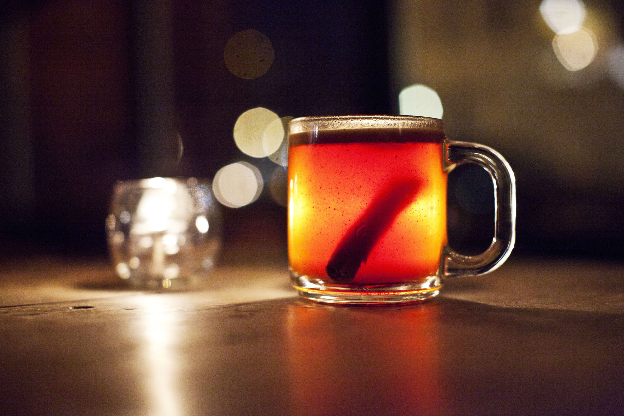 """<p><strong>The Rough Trade at <a href=""""http://www.timeout.com/newyork/bars/dram"""">Dram</a></strong><br />Owner Tom Chadwick adds an exotic edge to the classic hot buttered rum. He stirs a heaping spoonful of butter, cut with a Chinese five-spice mix, into a fearsomely potent pairing of rums: Coruba Jamaican and Plantation Trinidad Overproof. A nip of hot water dilutes the gutsy cocktail, but a shower of bitters (Amargo Angostura Vallet, Jerry Thomas) keeps the holiday favorite strong through the finish. <em>177 South 4th St between Driggs Ave and Roebling St, Williamsburg, Brooklyn (718-486-3726, <a href=""""http://drambar.com"""" target=""""_blank"""">drambar.com</a>). $10.</em></p>"""