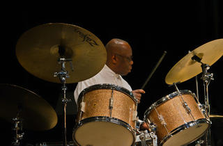 Ethan Iverson, Andrew Cyrille, Oliver Lake and Sam Newsome