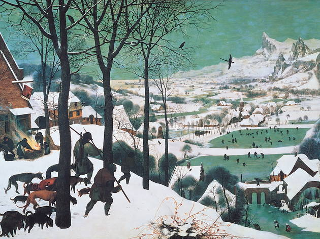 Pieter Bruegel the Elder's Hunters in the Snow from 1565