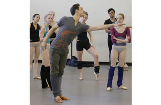 Justin Peck rehearsing with New York City Ballet