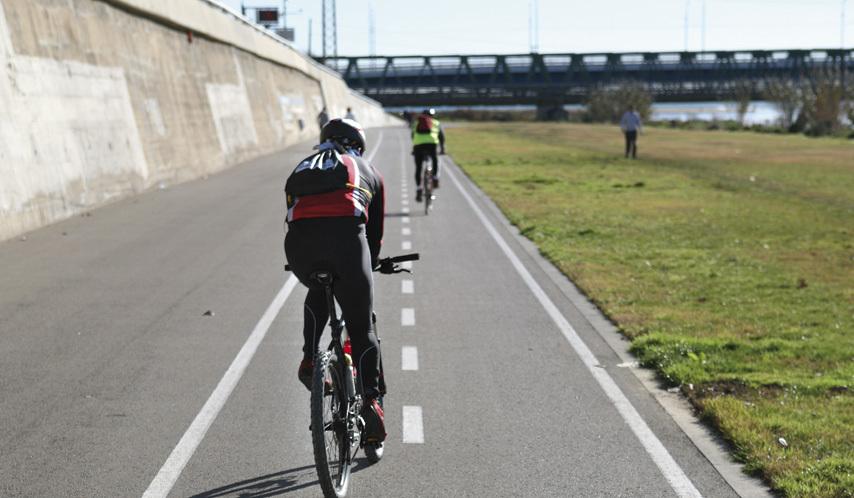 ruta en bicicleta parc del besòs
