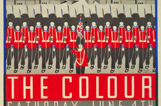 Trooping the Colour ('Trooping the Colour', 1932, by Margaret Calkin James, © London Transport Museum)