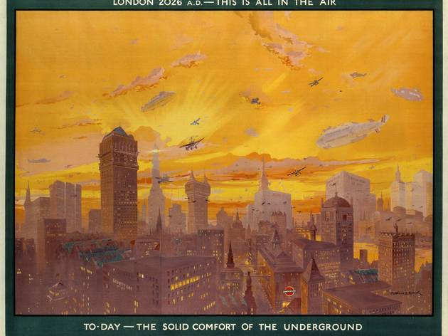 London 2026 AD ('London 2026 AD; this is all in the air', 1926, by Montague B Black, © London Transport Museum)