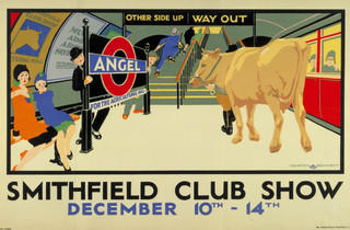 Smithfield Club Show ('Smithfield Club Show', 1928, by Compton Bennett, © London Transport Museum)