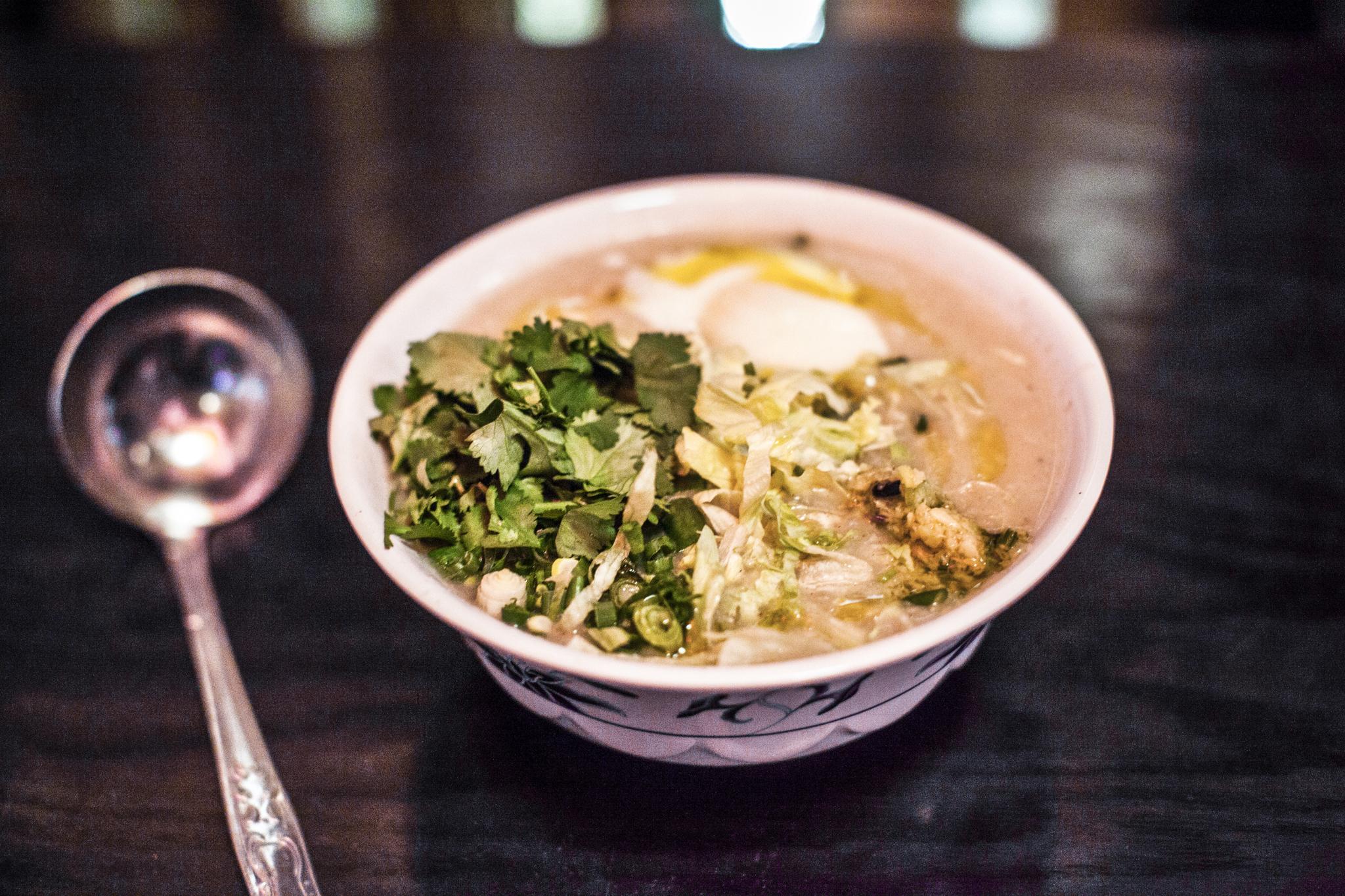 Westlake rice porridge at Mission Chinese Food