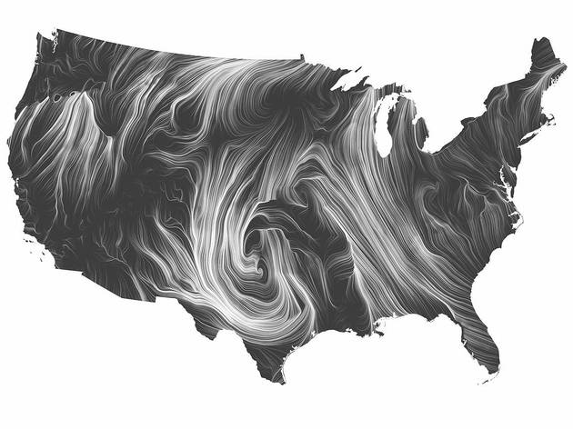 Wind Map (Designed by Martin Wattenberg and Fernanda Bertini Viegas)