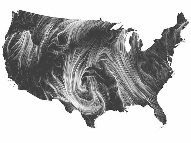 Wind Map (Designed by Martin Wattenberg and Fernanda Bertini Viegas)